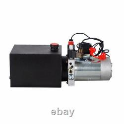 DC 12v 6 Quart Double Pompe Hydraulique À Double Effet Et Télécommande Sans Fil