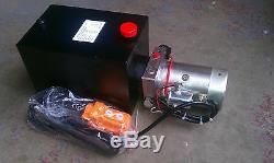 DC Hydraulique Par Intérim Roussir Unité D'alimentation Pack, Avec Vidage À Distance Benne 2950 Psi