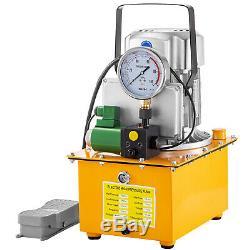 Driven Électrique Pompe Hydraulique Simple Effet Electrovanne Pédale Commutateur 750w