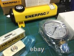 Enerpac P-142 Pompe À Main Hydraulique Ga4 Hc7206 Hose Gauge Nouveau