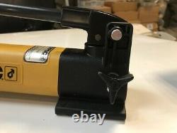 Enerpac Pompe Hydraulique À Vitesse Unique P141 Avec Tuyau Et Cylindre Jac Plat