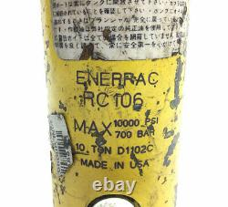 Enerpac Rc-106 Cylindre Hydraulique 10 Ton 10 000 Psi Max 6 Atteinte C-106