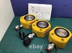 Enerpac Rsm-500 Nouveau! Jac Plat 50 Ton. Cylindre Hydraulique À Faible Hauteur De 63 Temps