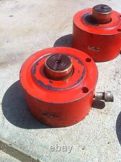 Ensemble De 4 Power Team 150 Tonnes Single Acting Hydraulic Cylinder Enerpac