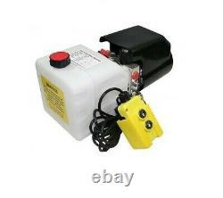 Flowfit 12v DC Single Acting Hydraulic Power Pack, 5 L/min Avec Réservoir 11l Zz01063
