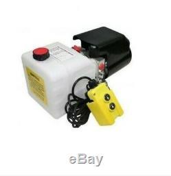 Flowfit 24v DC Simple Effet Hydraulique Bloc D'alimentation 5 L / Min Avec Réservoir 4.5l Zz00382