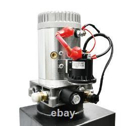 Heavy Duty 12v 8 Quart Unité De Puissance De La Pompe Hydraulique Unique Action 3200 Psi 2.0 Gpm