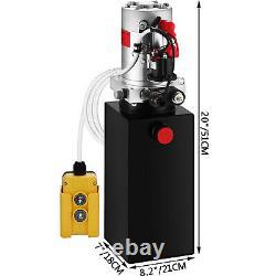 Kit De Commande De Fer De Levage De Levage De Décharge De Pompe Hydraulique À Action Unique De 6 Litres
