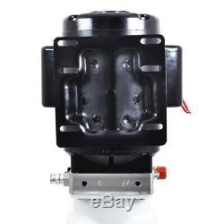 Nouveau 10l Simple Effet Pompe Hydraulique Remorque À Déchargement 220v Unité De Levage Pour Voiture