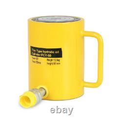 Nouveau 50 Tonnes 4 Stroke Simple Effet Cylindre Hydraulique 10000psi Jack Ram
