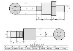 Pompe À Main Hydraulique (10.000 Psi 458 In³) (b-7000)