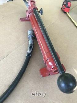 Pompe À Main Hydraulique Blackhawk Porto-power Avec Fixation De Cylindre Et Tuyau