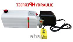 Pompe D'unité De Puissance Hydraulique 12 V 180 Bar 2000w Camion, Basculeur, Remorque 11l Dumper