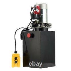 Pompe Hydraulique À Action Unique 12 Quart 12v DC Remorque Réservoir Métallique Bpt