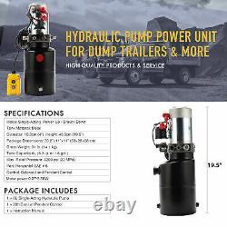 Pompe Hydraulique À Action Unique 12v Dump Trailer 6 Quart Reservoir