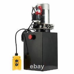 Pompe Hydraulique À Action Unique 12v Remorque Réservoir Métallique 12 Quart