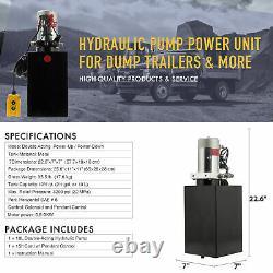 Pompe Hydraulique À Action Unique De 12 Volts Pour Remorque À Décharge 10 Quart Metal Reservoir