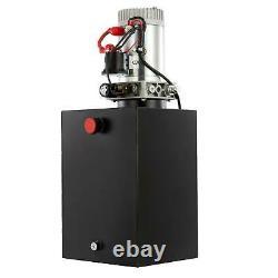 Pompe Hydraulique À Action Unique De 5,3 Gallons 12v Pour Charrue De Remorquage De Lit De Splitter En Bois