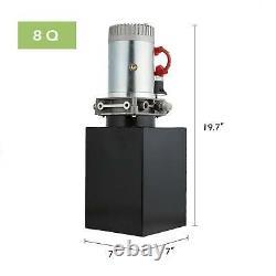 Pompe Hydraulique À Action Unique De 8 Litres Pour Décharger Le Réservoir Déchargement De 12 Volts