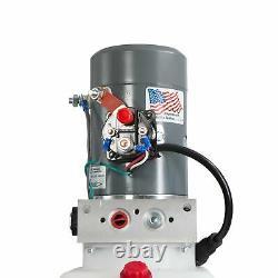 Pompe Hydraulique À Action Unique Pour Remorques À Benne Kti 12vdc 6 Quart Réservoir