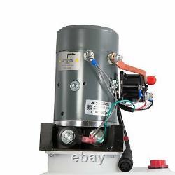Pompe Hydraulique À Action Unique Pour Remorques À Benne Kti 12vdc Réservoir De 13 Litres