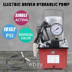 Pompe Hydraulique À Entraînement Électrique 10000psi Vanne Manuelle À Action Unique 110v 63mpa Od