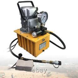Pompe Hydraulique À Entraînement Électrique À 2 Étages Vanne Solénoïde À Action Unique 110v 10k Psi
