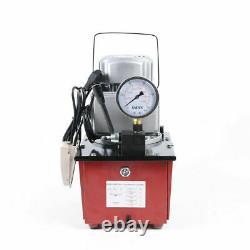 Pompe Hydraulique À Propulsion Électrique 750w Valve Manuelle À Action Unique 10000 Psi 110v