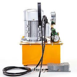 Pompe Hydraulique Électrique Solenoid Valve Single Acting 2 Stage Pedal Switch 750w