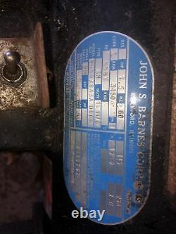 Pompe Hydraulique John S Barnes 120/240 Vac