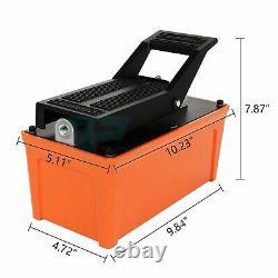Pompe Hydraulique Pneumatique 1.7l Pied Pedal 10000 Psi Réservoir Pompe Avec Tuyau
