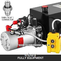 Pompe Hydraulique Simple Effet 12 Réservoir Pintes Power Unit Pack De Métal Du Réservoir 12v