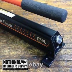 Power Team P59l Manual Hand Pump, Single-acting, 2-speed, 10,000 Psi, Hydraulique, Nouveau