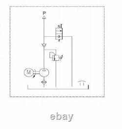 Remorque À Décharge Hydraulikaggregat 24v 2000 W Remote À Action Unique 12 Quart Pump