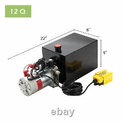 Remorque À Pompe Hydraulique À Action Unique 12 Quart 12v Unité D'alimentation De Bloc D'unité
