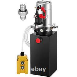 Remorque À Pompe Hydraulique À Action Unique 6 Quart Pack Unité D'alimentation En Métal