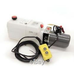 Simple Effet 12v DC Pompe Hydraulique Power Pack Up Down Alimentation 6 Pintes Réservoir Dc26