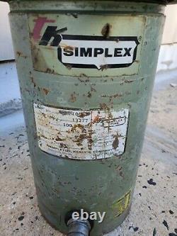 Simplex R-1006 Jack Hydraulique À Action Unique 100 Tonnes 6 Pouces Course