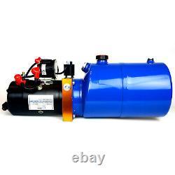 Temco 12v DC Hydraulic Power Unit Dump Trailer Pump 6 Qt Pu / Gd (single Acting)