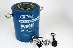 Temco Hc0019 Cylindre Hydraulique Ram Simple Effet 100 Tonnes 4 Pouces Stroke