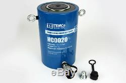 Temco Hc0020 Cylindre Hydraulique Ram Simple Effet 100 Tonnes 6 Pouces Stroke