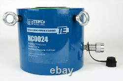Temco Hc0024 Cylindre Hydraulique Ram Simple Agissant 200 Tonnes Course De 2 Pouces