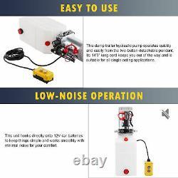 Unité D'alimentation De Pompe Hydraulique 12v 6 Quart À Action Unique Pour L'ascenseur De Ciseaux Rv Plus