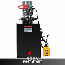 Unité De Puissance Hydraulique 20q Pompe Hydraulique À Double Action Remorque À Moteur 12v DC