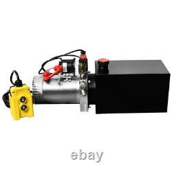 Unité De Puissance Hydraulique Pompe 10 Pintes Métal Réservoir 12 Volt Puissance Remorque