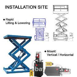 Vevor 6 Quart Unité D'alimentation De Levage De La Pompe Hydraulique À Décharge À Simple Action