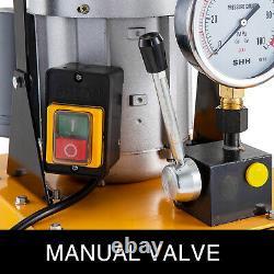 Vevor Electric Hydraulic Pump Power Pack 2 Étape Simple Acting 10k Psi 7l Cap