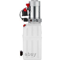 Vevor Pompe Hydraulique À Action Unique Pour Remorques À Benne À Benne 12vdc 6 Litres Réservoir